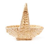 Brown wicker basket isolated over the white background Stock Image