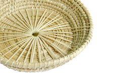 Brown wicker  basket on white background Stock Images