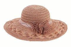 Brown wicker bonnet Stock Photos
