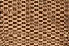 Brown wicker furniture surface. Background texture Royalty Free Stock Image
