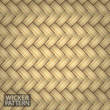 Brown Wicker Seamless Pattern Vector Royalty Free Stock Photo