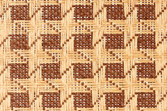 Brown wicker texture Stock Photos