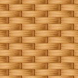 Brown wicker texture. Vector seamless background. Stock Images