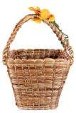 Brown wicker water hyacinth basket Stock Photography