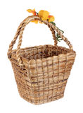 Brown wicker water hyacinth basket Stock Images