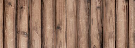 Brown wide plank, wooden background stock photography