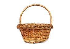 Brown willow basket Stock Image