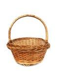 Brown willow basket Royalty Free Stock Photos