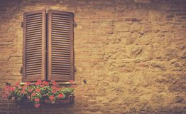 Brown window shutters Royalty Free Stock Photo