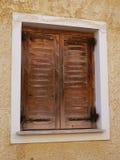Brown window Stock Image