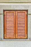 Brown Window withclosed shutters Royalty Free Stock Images