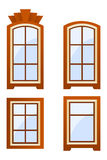 Brown windows Stock Images