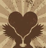 Brown winged heart Stock Photography