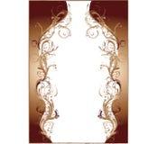 brown wiolonczelowa rama kwiaciasta przeznaczone do wektora royalty ilustracja