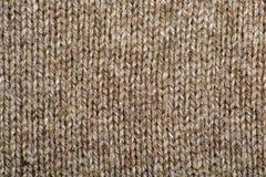 Brown-Wolle-Beschaffenheit Stockbild