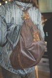 Brown woman handbag Royalty Free Stock Images