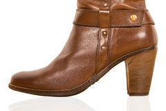 Brown woman's boot Royalty Free Stock Photos