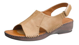 Brown woman sandal Royalty Free Stock Photography