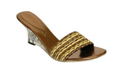 Brown woman summer shoe Royalty Free Stock Images