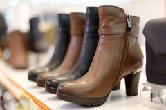 Free Brown Women`s High Heel Boots , Adobe Rgb Stock Photography - 118376492