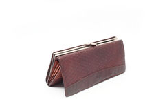 Brown women's purse  Royalty Free Stock Images