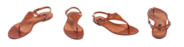 Brown women sandal royalty free stock photos