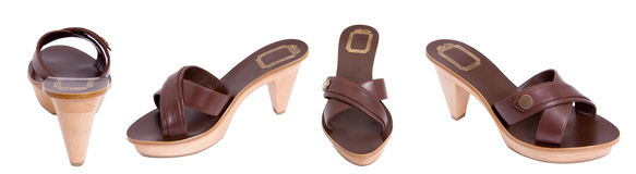 Brown women sandal Royalty Free Stock Image