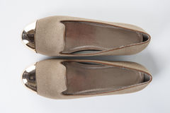 Brown women shoes Stock Images