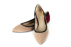 Brown women shoes Royalty Free Stock Photography