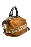 Brown womens bag  on white background. Royalty Free Stock Image
