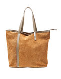 Brown womens bag  on white background. Royalty Free Stock Photography