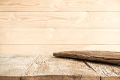 Brown wood background and old wooden table Stock Photo