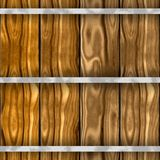 Brown wood barrel seammles pattern texture background with old wooden planks Royalty Free Stock Photography