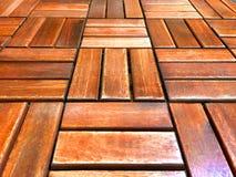 Wood Batten Tiled Floor. Brown Wood Batten Tiled Floor royalty free stock image