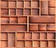 Brown wood cabinet shelf. Empty brown wood cabinet shelf royalty free stock image
