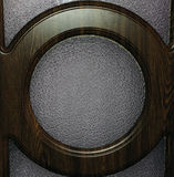 Brown wood circle on a glass surface Royalty Free Stock Photos