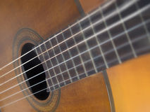 Brown wood classic guitar Royalty Free Stock Images