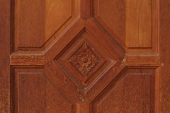 Brown wood door Stock Photos
