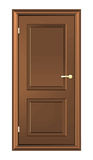Brown Wood Door Royalty Free Stock Images