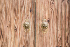 Brown wood door texture and background Stock Images