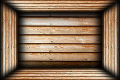 Brown wood finished interior background Stock Image