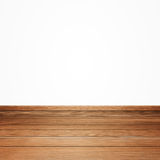 Brown wood floor isolated on a white Royalty Free Stock Images
