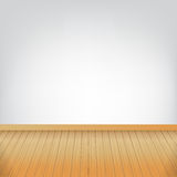 Brown wood floor texture and white wall background empty room wi Royalty Free Stock Images
