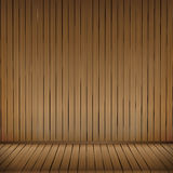 Brown wood floor texture and wood wall background empty room wit Stock Photography