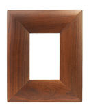 Brown wood frame Stock Image