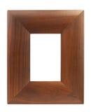Brown wood frame Stock Image