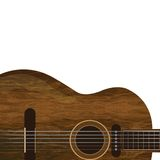 Brown wood guitar Stock Photography