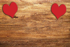 Brown wood and heart Stock Photography