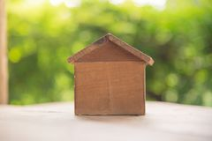 Brown wood house. Royalty Free Stock Photography