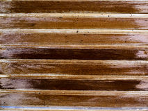 Brown wood lath pattern. Close up Stock Photography